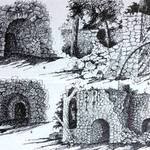 "Olema Lime Kilns, 1953, per illustration in Treganza's article in ""Geological Guidebook to San Francisco Bay Counties."" <span>© CA Division of Mines </span>"