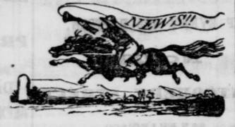 Pony Express Logo, 1861 <span>© Daily Alta California </span>
