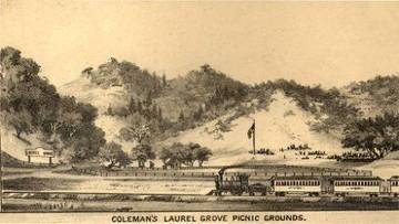 Laurel Grove Picnic Grounds, 1884 <span>© Anne T. Kent Room </span>