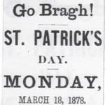 1878 St. Patrick's Day Celebration <span>© Marin Journal 14 Mar 1878 </span>