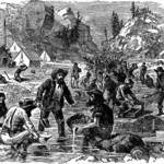 Gold Mining in California during the Gold Rush. <span>&copy;  </span>