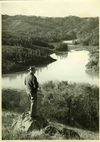 Looking out over Alpine Lake, Marin County, c.1940 <span>© Anne T. Kent Room </span>
