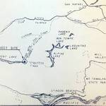 Detail from MMWD map showing Pine Mountain Tunnel <span>© Anne T. Kent Room </span>