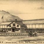 San Rafael Railroad Depot, 1884