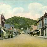 Looking up B. Street in San Rafael, early 1900s <span>© Anne T. Kent Room Staley </span>