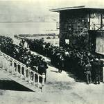 Prisoners lining up at San Quentin, 1871