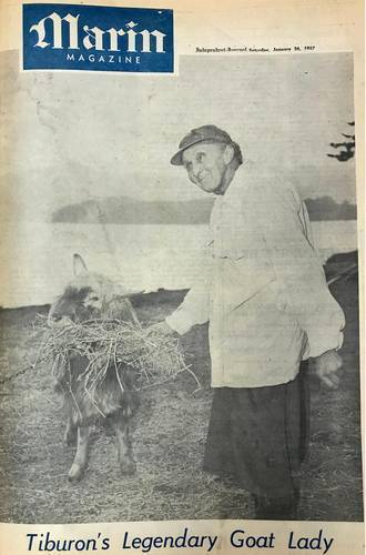 Rose Verrall on the cover of the Marin Magazine section of the Marin I.J., Jan. 26, 1957 <span>© Marin I.J. </span>