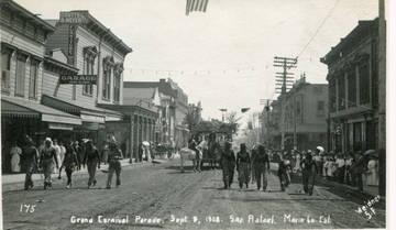 Grand Carnival Parade, San Rafael, Sept. 9, 1908 <span>© Anne T. Kent Room Staley </span>