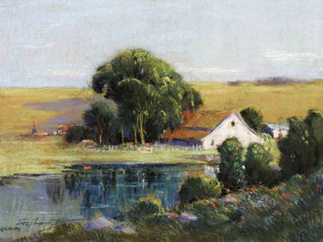 Bayside Acres, San Rafael. Pastel by George Demont Otis. <span>©  </span>