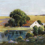 Bayside Acres, San Rafael. Pastel by George Demont Otis.