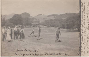 Swedish immigrants playing baseball in Mill Valley on the Fourth of July, 1905