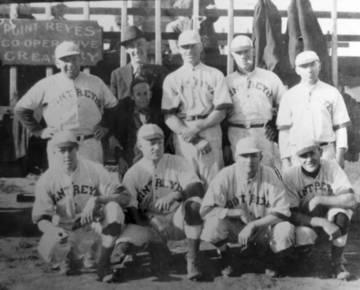 Point Reyes baseball team, circa 1920s <span>&copy; TomalesRegionalHistoryCtr </span>
