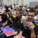 San Diego Students at CDP Convention <span>© Nancy Merritt </span>
