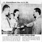 The O'Flynns move into Terra Linda; Daily Independent Journal, July 30, 1954 <span>©  </span>