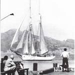 """Hayden's Schooner """"Wanderer"""" in Sausalito, 1958. <span>&copy; Tad Roberts </span>"""