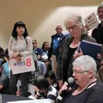 DoP Advocates Jerilyn Stapleton, Maggi Koren at CDP Resolution Meeting <span>&copy;  </span>
