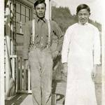 Chinese kitchen staff employed by the Kent Family, c.1920 <span>&copy; Anne T. Kent Room </span>