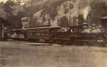 North Pacific Coast Railroad in Cazadero <span>&copy; Anne T. Kent Room </span>
