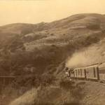 North Pacific Coast Railroad going over trestle on White's Hill, 1889 <span>&copy; Anne T. Kent Room </span>