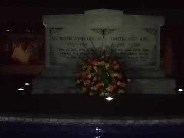 MLK Jr. and Mrs. Coretta Scott King Burial Site on the Night of the King Holiday <span>&copy;  </span>