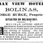 "A barrage of weekly ads for the Bay View Hotel in the 1870s, such as this one from the ""Marin Journal,"" ensured a steady flow of patrons. <span>&copy; Marin Journal </span>"