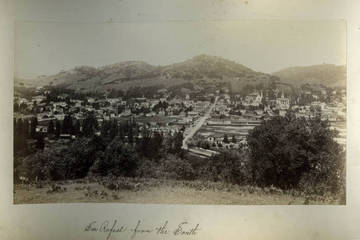 View of San Rafael in the mid 1880s. <span>&copy; Anne T. Kent Room </span>