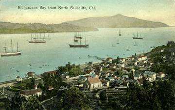 View of Richardson Bay from Sausalito <span>© Anne T. Kent Room Staley </span>