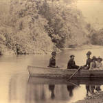 Boating on Paper Mill Creek near Camp Taylor, 1889 <span>© Anne T. Kent Room </span>