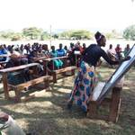 Community meeting at Waondo Primary School, Kenya