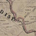Detail from the 1873 map of Marin. <span>&copy; Anne T. Kent Room </span>