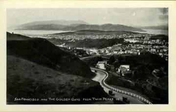 Golden Gate & San Francisco as seen from Twin Peaks, 1928 <span>&copy; Anne T. Kent Room </span>