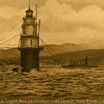 Golden Gate Strait & Mile Rock Lighthouse, c.1912 <span>&copy; Anne T. Kent Room </span>