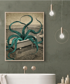 Octopus Canvas Poster