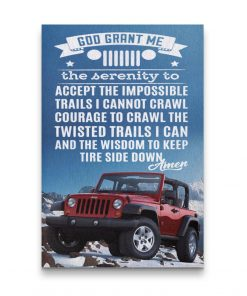 JEEP PRAYER JEEP CANVAS JEEP CANVAS WALL ART POSTER