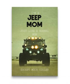 JEEP MOM JEEP CANVAS JEEP CANVAS WALL ART POSTER