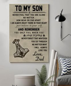 Viking Poster - To My Son Love My Dad