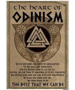 Viking Poster - The Heart Of Odinism