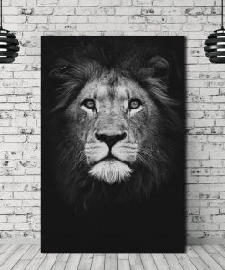 animal poster- lion black and white