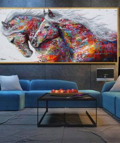 animal poster- color horse