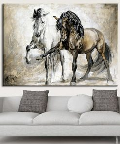 animal poster- horse black and white