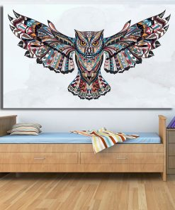 animal poster- colorful owl