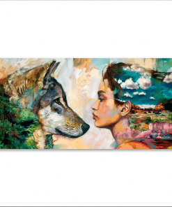 animal poster- wolf and girl