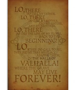 Viking's prayer - Ode to Valhalla from The Warrior for victory canvas wall art