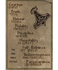 The Nine Noble Virtues about purpose of life and lifestyle of people canvas wall art