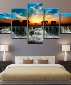 Elephant Poster, Premium Quality Canvas Printed