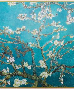 Framed Van Gogh Almond Blossom Poster Laminated on Wood Home Decor Modern Look