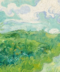 Green Wheat Fields, Auvers (Artist: Vincent van Gogh) c. 1890 - Masterpiece Classic (Art Prints, Wood & Metal Signs, Canvas, Tote Bag)