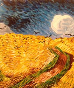 Hand Painted Van Gogh Wheatfield With Crows Reproduction By JPK Artwork