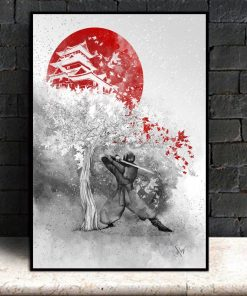 The warrior and the wind Canvas Art Poster