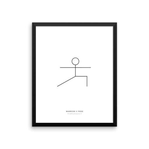Yoga Pose Print Warrior II Print, Minimalist Wall Art